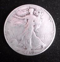 1940 S    WALKING LIBERTY HALF DOLLAR  90 SILVER COIN  85