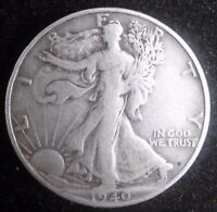 1940 S WALKING LIBERTY HALF DOLLARS  90 SILVER COIN    551