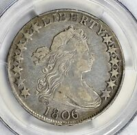 1806/5 0-103 DRAPED BUST HALF DOLLAR PCGS VF DETAILS TINY SCRATCH