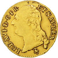 [96636] FRANCE LOUIS XVI LOUIS DOR  LA TTE NUE 1787 PARIS EF,