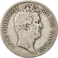 [408709] FRANCE LOUIS PHILIPPE 5 FRANCS 1830 TOULOUSE F SILVER,