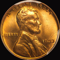 1933 D LINCOLN CENT PCGS MS 66 RED
