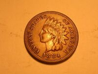 1884 INDIAN HEAD CENT VF & ATTRACTIVE