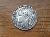 1849 A FRENCH 5 SILVER FRANCS @@ SHARP DETAIL MUST SEE@@ PARIS MINT