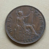 1932 ENGLISH / BRITISH ONE HALF PENNY COIN   D5