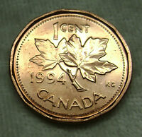 1994 ONE 1 CENT CANADA