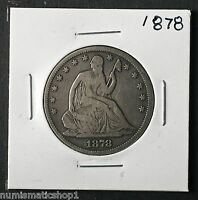 1878 SEATED LIBERTY HALF DOLLAR NICE PHILADELPHIA MINT 50 CENT SILVER COIN