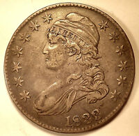 1833 CAPPED BUST HALF DOLLAR O 102 AU COIN
