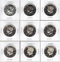 1970 S TO 1979 S  9 COIN  PROOF KENNEDY HALF DOLLAR  RUN