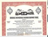LOUISVILLE AND NASHVILLE RAILROAD EQUIPMENT TRUST.1970 CERTIFICATE