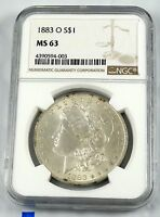1883 O MS63 MORGAN SILVER DOLLAR NGC