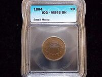 1864 TWO CENT PIECE 2C -