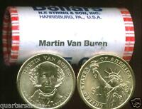 2008 D MINT BUNCIRCULATED MARTIN VAN BUREN $25 GOLD DOLLAR ROLL HEAD/TAIL