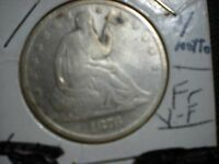 1876 S SILVER SEATED LIBERTY HALF DOLLAR FINE TO FINE