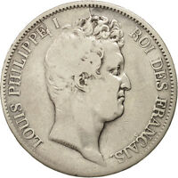 [408261] FRANCE LOUIS PHILIPPE 5 FRANCS 1830 ROUEN SILVER KM:737.2
