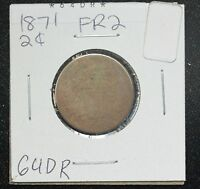1871 TWO CENT FR