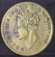 GEORGE IV DEATH MEDAL 26TH JUNE 1830. STRUCK IN BRASS. 25MM DIAMETER