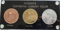 1776 CONTINENTAL CURRENCY DOLLAR SET  DICKESON'S RESTRIKES