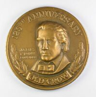 125TH ANNIVERSARY OLD CROW 1835 1960 JAMES CROW FOUNDER BOURBON BRONZE MEDAL