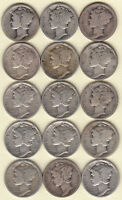 1920 D 1923 PS 1924 PDS 1925 S 1926 PD 1927 PDS 1928 S 1929 D 15/MERCURY DIMES