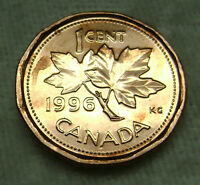 1996 ONE 1 CENT UNC CANADA