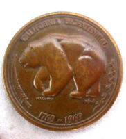 1769 1969 CALIFORNIA BICENTENNIAL MEDAL COIN MEDALLION BRONZE THE GOLDEN LAND