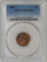 1884 INDIAN HEAD CENT 1C MS64 RB PCGS