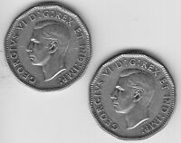 1945 CANADA FIVE CENT NICKEL COIN 2   V F