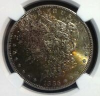 1885 VAM 1A1 NGC MINT STATE 63 TONED MORGAN SILVER DOLLAR - GENE L HENRY LEGACY COLLECT