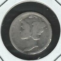 1920 S MERCURY SILVER DIME IN CIRCULATED CONDITION