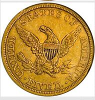 1843  LIBERTY HALF EAGLE $5 GOLD  NGC AU DETAILS