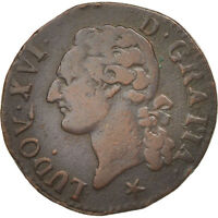 [18888] FRANCE LOUIS XVI 1/2 SOL OU 1/2 SOU 1/2 SOL 1791 LILLE COPPER