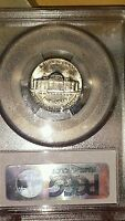 1957 D JEFFERSON NICKEL COIN PCGS MS 64 BEAUTIFUL