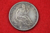 ESTATE FIND 1858 S SEATED LIBERTY HALF DOLLAR C0503