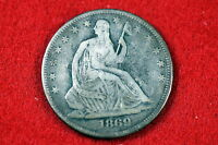 ESTATE FIND 1869 SEATED LIBERTY  HALF DOLLAR C0683