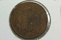1870 TWO CENT G OLD LIGHT CLEANING