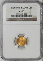 1904 $ GOLD LEWIS & CLARK DOLLAR MINT STATE 65 NGC