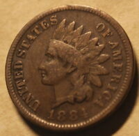 1884 INDIAN CENT   GOOD / VG   NICE HARDER PENNY   FREE SHIP