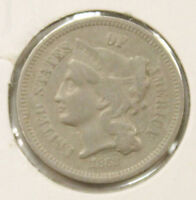 1868 3C THREE CENT NICKEL