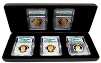 2007-S 5 COIN PROOF SACAGAWEA & PRESIDENTIAL DOLLAR SET ICG PR-70DCAM -148368