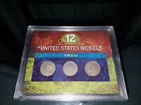 12 DECADES OF UNITED STATES NICKELS 1905 1908 1911