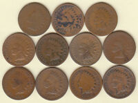 1875 1880 1884 1885 1886 1894 1895 1909 31 COIN SET//INDIAN HEAD CENTS/