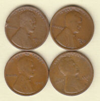 1909-VDB FINE 1912-D 1912-S 1913-S //GOOD-VG///LINCOLN CENTS// FAST SHIPPING