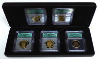 2007-S 5 COIN PROOF SACAGAWEA & PRESIDENTIAL DOLLAR SET ICG PR-70DCAM -149377