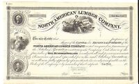 NORTH AMERICAN LUMBER COMPANY..1800'S UNISSUED STOCK CERTIFICATE