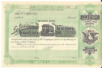ALLENTOWN AND LEHIGH VALLEY TRACTION CO..1800'S UNISSUED STOCK CERTIFICATE