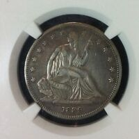 1839 NO DRAPERY SEATED LIBERTY SILVER HALF DOLLAR    NGC XF DETAILS