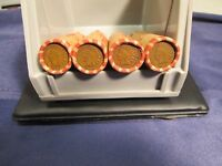 WHEAT PENNY ROLLS WITH A INDIAN HEAD CENT ON THE END 1909SVDB FOUND