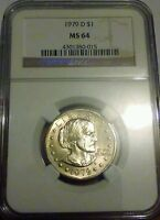 1979 D SUSAN B ANTHONY . MS 64 UNCIRCULATED . NGC