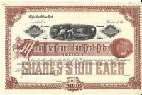 MOUNT OLIVE CONSOLIDATED COAL AND COKE COMPANY.1880'S UNISSUED STOCK CERTIFICATE